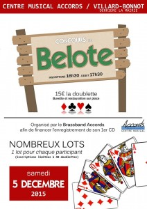 Concours belote 2015