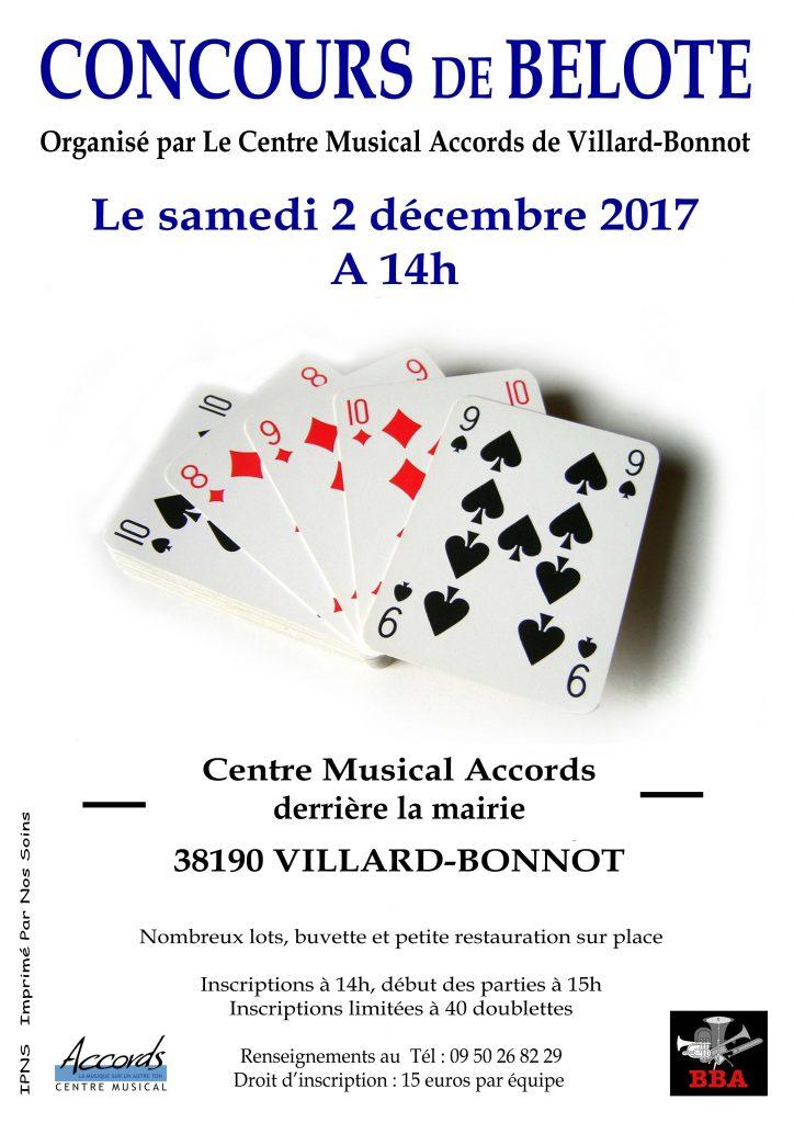 Concours de belote @ Centre Musical Accords | Villard-Bonnot | Auvergne-Rhône-Alpes | France